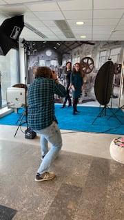Onze fotograaf in actie